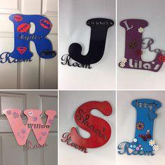 Decorated Alphabet Bedroom Door Name Signs