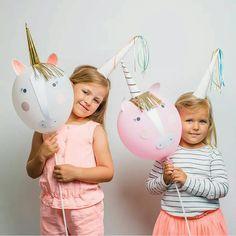 Ballonnen als eenhoorn