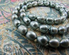 Soft Silvery Aqua Freshwater Pearl Beads, blue pearls, potato pearls, Winter, bridal, something blue, jewelry making, gem beads -…