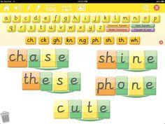 Write On Phonics split vowels Word Building, Phonics, Literacy, Ipad, Classroom, Lettering, Teaching, Writing, Education