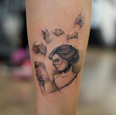 Sketch Style Book Tattoo by Lars Curitiba