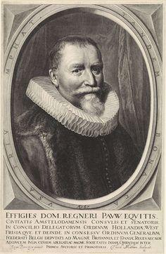 Theodor Matham, naar Jan Anthonisz. van Ravesteyn, Portret van Reinier Pauw, op 67-jarige leeftijd, 1658, Rijksmuseum Amsterdam
