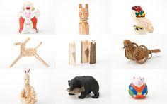 Found Muji Aoyama showcases Engimono good luck charms from all over Japan Daruma Doll, Traditional Toys, Maneki Neko, Chinese Zodiac, Muji, 3d Printing, Kids Rugs, Japan, Shapes