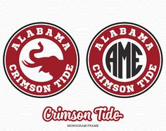 Alabama Crimson Tide Monogram Frame SVG EPS DXF by LetitCut