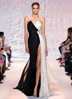 Cheap dress garment, Buy Quality gown wedding dress directly from China gown dress Suppliers: vestidos de festa Export Quality Front Split Chiffon Evening Gowns 2016 Cheap Black and White Long Evening Dresses 2016 V Neck Prom Dresses, Chiffon Evening Dresses, Strapless Dress Formal, Chiffon Dress, Dress Long, Sexy Dresses, Evening Gowns Couture, Designer Evening Gowns, Wrap Dresses