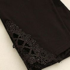 NEW Fashion Summer Women Hollow Modal cotton Leggings Elastic Triangle Lace Stretch Pants Sexy Cropped Trousers Legging 6 Color