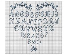 Grilles et diagrammes; alphabet heart sampler