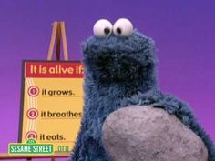 Sesame Street: Who's Alive? (POE, abiotic v. biotic) For younger students!! FUN!!