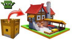 Minecraft Medieval Blacksmith Tutorial (EASY 5X5 BUILDING SYSTEM) - YouTube