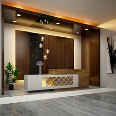 First-rate calvin reception desk 3200 exclusive on home decor gallery Lobby Interior, Studio Interior, Office Interior Design, Office Interiors, Home Interior, Reception Counter Design, Office Reception Design, Office Table Design, Reception Ideas