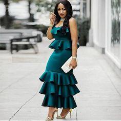 African Dress for women/ Asymmetrical long dress/ Ruffled/ Dashiki Cape Dress/ Prom Dress/ Casual Dress/ Summer Dress/Kitenge/ Kente African Print Dresses, African Print Fashion, African Fashion Dresses, African Dress, African Attire, African Wear, African Women, Look Fashion, Fashion Outfits