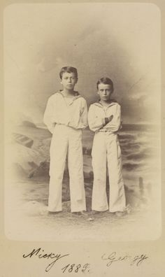 Nicholas II with his brother George   http://kantor.forum24.ru/