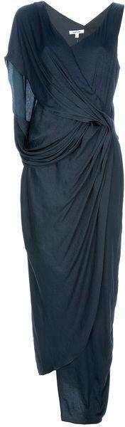 Helmut Lang Draped Maxi Dress...perfect for a night wedding.