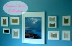 Sand Art ~ Collect sand from the different beaches you visit.  Frame and label! ~ 'Or so she says...' Blog