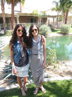 Director of PR, Simone Delfino and Marketing Coordinator, Jennifer Olson in head-to-toe club at Coachella!