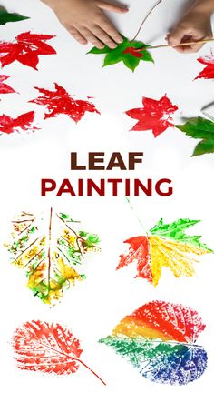 Fun & creative ways for kids to paint with leaves. Fall leaf crafts for preschool and elementary. Turn fallen leaves into beautiful works of art with this autumn craft for kids ! We began by going on a hike to collect fallen leaves. Then, we set ou… Fall Crafts For Toddlers, Crafts For Kids To Make, Art For Kids, Kids Diy, Crafts For Babies, Autumn Art Ideas For Kids, Autumn Activities For Kids, Toddler Art, Toddler Crafts