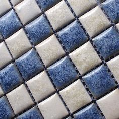 Porcelain Bathroom Wall Tile Design Square Blue and White Mosaic Tile Kitchen Backsplash Border, Size: 1 inch, 300 x 300 x 6 mm, Color: Blue and White White Mosaic Tiles, Mosaic Wall Tiles, Pebble Tiles, Mosaics, Kitchen Wall Art, Kitchen Backsplash, Bathroom Wall, Wall Tiles Design, Cobalt Blue