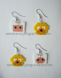 Adventure Time earrings hama beads by Entre hamas y chapas