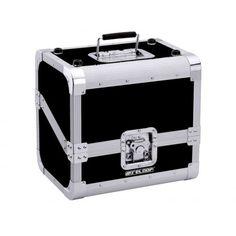 PROMOTION = 69 € TTC Reloop 80 CASE 50/50 SLANTED BLACK Valise aluminium de transport pour 80 vinyles