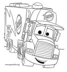 Top 10 Free Printable Disney Cars Coloring Pages Online | трафареты ...