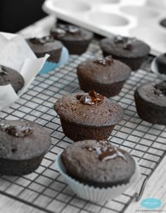 #GlutenFree and Dairy-Free Chocolate Muffins made with Linseed, Sunflower and Almond ground + coconut oil by #dairyfree