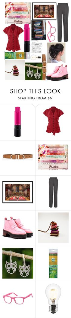 """""""Stupendous Starter Packs: The Study Date"""" by capricandycorn ❤ liked on Polyvore featuring MAC Cosmetics, White House Black Market, Oliver Gal Artist Co., Peridot London, Sies Marjan, NOVICA and Dixon Ticonderoga"""
