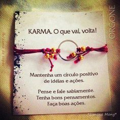 PROSA - TRECOS E CACARECOS: KARMA! reflection