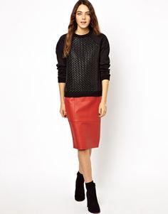 Image 4 ofASOS Sweatshirt with Bubble Wrap Panel