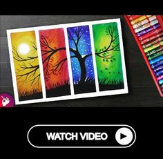 How to Draw Four Season Scenery drawing with oil pastels for beginners. Learn How to draw Four Season Scenery drawing with oil pastels for beginners step by step. Watch this Drawing Video Things used Camlin Kokuyo Oil Pastel Shades) . Oil Pastel Drawings Easy, Oil Pastel Paintings, Colorful Drawings, Oil Pastel Colours, Soft Pastel Art, Oil Pastels, Chalk Pastel Art, Crayon Painting, Crayon Art