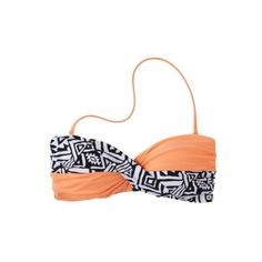 Junior's Tribal Print Bandeau Swim Top -Assorted Colors ($15) ❤ liked on Polyvore featuring swimwear, bikinis, bikini tops, bathing suits, swimsuits, tribal bikini top, bandeau bikini, bandeau top bikini and swimsuit tops