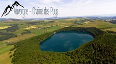 An arial view of the volcanoes in the Auvergne, France, called the Chaine des Puys. All made with DJI Phantom and GoPro Hero 3+ Black.