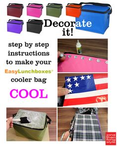 Instructions for decorating your @easylunchboxes lunch cooler bag