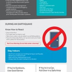It is impossible to predict when an earthquake is going to strike. Each quake differs in magnitude. Here are some helpful before, during, and after ti