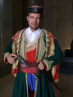 Man in traditional costume from Montenegro