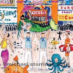 The annual Mermaid Parade in Brooklyn as seen in New York in Fours Seasons.