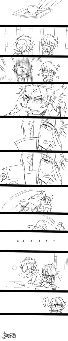 Mikoto x Munakata「【中国語注意】尊礼LOG」/「敬」の漫画 [pixiv] ll I literally re pinned this for Fushimi's face in the last panel