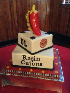 University of Louisiana at Lafayette, Louisiana grooms cake. Ragin Cajuns