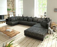 Couch Clovis XL Schwarz Mit Hocker Wohnlandschaft Modulares Sofa Jetzt  Bestellen Unter: Https://moebel.ladendirekt.de/wohnzimmer/sofas/wohnlandschaften/?uid  ...