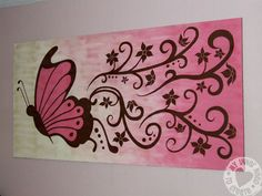 Simple Canvas Painting Ideas | ... huge canvas painting and easier to change out than a wall mural