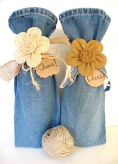 Wine Bags - diy Wedding Crafts: Blue Jean Wine Bag Tutorial - www.diyweddingsma...