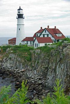 Portland Head Light, Maine --- USA