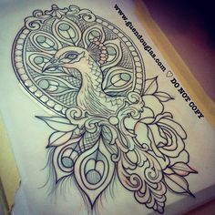 Shit's gonna get fancy here @skinwear_tattoo_rimini tomorrow haha... Ok ok it's actually a lot less complicated than it seems... Vain peacock in handheld mirror with 9 feathers... Looking forward to seeing this lady again!  #tattoo #tattoos