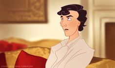 If Sherlock was an animated show. I took random screencaps from A Scandal in Belgravia and redrew them as cartoons.