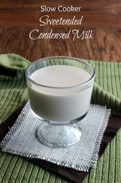 Non Dairy Slow Cooker Sweetened Condensed Milk is as easy as it sounds. Excellent in all baking goods calling for the traditional thick rich sweetener. gluten free and dairy free Vegan Slow Cooker, Crock Pot Slow Cooker, Slow Cooker Recipes, Crockpot Recipes, Cooking Recipes, Cooking Tips, Vegan Sweets, Vegan Desserts, Dessert Recipes