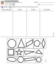 GS fiche bilan tri formes Vers les maths Flexo période 1  Titlinealecole OK OK OK 1st Grade Math, Grade 1, Math Gs, Thing 1, Positivity, Education, School, Skin Care, France
