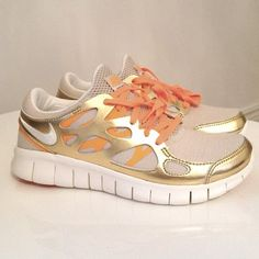 Gold Nike running shoes!