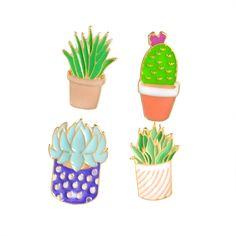 Aliexpress.com: Comprar Serie Cactus Desierto Insignia Pin Broches Para Las Mujeres Pins esmalte Lindo de la Historieta Plantas En Macetas de Jardinería Regalos de la Joyería de Los Hombres Amigo Niños de broche rojo fiable proveedores en Elizabeth Jewelry