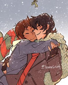 "Elentori on Twitter: ""Fluff for the holidays <3 #klance"