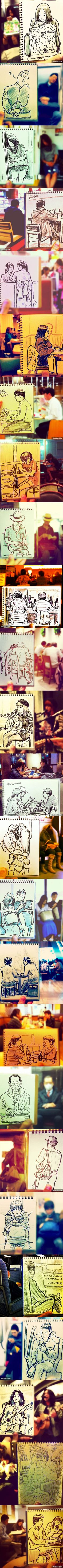 When A Japanese Illustrator Draws Simple Everyday Scenes In Beautiful Speed Sketches - 9gag