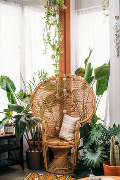 Ideas For Plants Office Design West Elm Boho Living Room, Living Room Decor, Home Renovation, Home Remodeling, Bathroom Remodeling, Yoga Studio Design, Room With Plants, West Elm, Room Themes